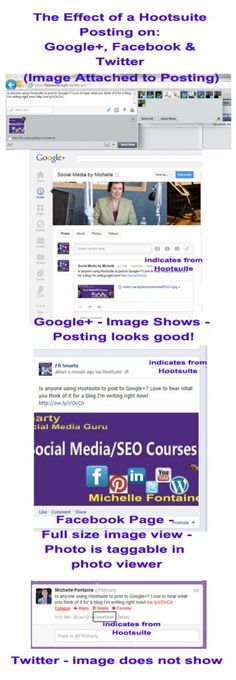 With Hootsuite you can now automate postings to Facebook, Twitter, LinkedIn AND Google+. What do you think?