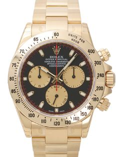 Rolex Cosmograph Daytona 116528 Gelbgold Schwarz Champagnerfarben