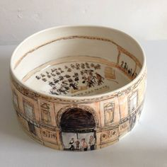 Helen Beard, Royal Albert Hall, hand painted porcelain £1700