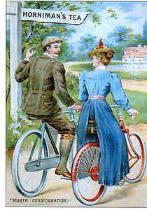 . Bikes Horniman's Tea Vintage Advertising Modern Postcard