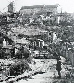 The Maquis, Montmartre, On the northern flank of the hill, it was an area of waste ground that became an illegal shanty town. The poorest district of Montmartre. Montmartre Paris, Vintage Pictures, Old Pictures, Old Photos, Paris 1900, Paris France, Tour Eiffel, Belle Epoque, Paris Ville