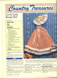 ☆☆☆☆Amicrochet ☆☆☆☆: Lovely lady broom doll