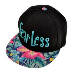 ZLYC Women's 2015 Fashion Neon Floral Tropical Print Embroidered Fearless Snapback Baseball Visor Adjustable (Mint Blue) ZLYC http://www.amazon.co.uk/dp/B00X3N8O4K/ref=cm_sw_r_pi_dp_3eUyvb0TD6MGS #hat #women #girl #fashion #cool #print #hiphop #baseballhat #blue #streetstyle #summer #travel #beach #floral #fearless #words