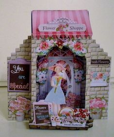 The Flower Shoppe What an Entrance! Card and Envelope Kit. by Pam Stubley: i printed onto photo paper and cut out the pieces. Card Printing, You Are Special, 3d Cards, Handmade Cards, Entrance, Envelope, Card Making, Kit, Printed