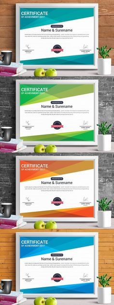 Modern Certificate Template (pptx) Stationery Templates