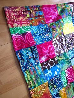 batik quilt (fun quilt for teens and young adults)