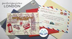 Partecipazione LONDON  set 20 pezzi di giadacontewedding su Etsy