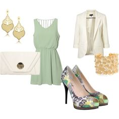 love these colors and those shoes!! and that dress