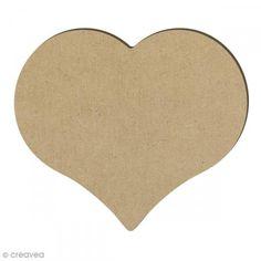 Corazón de madera - 14,7 x 12,8 cm - Fotografía n°1