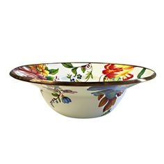 MacKenzie-Childs Morning Glory Compote Enamel 9 Material 12 Dia Height Large,Width