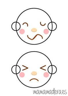 Caras de emociones para descargar - MamaMadera.es Experiment, Psychology Clinic, Sensory Motor, Emotion, Reggio Emilia, Light Table, Free Printables, Hello Kitty, Baby Shower