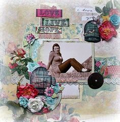 Layout Background Technique by Carla Marchee March Limited Edition Kit 2013