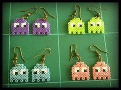 Pendientes fantasmas Hama beads