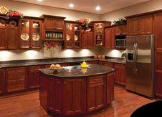 Cherry Shaker Cabinets