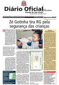 Diário Oficial de SP, 7/8/2015
