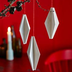 Anleitungen: Weihnachten - Wood Designs - Fashion and Recipes Simple Christmas, Christmas Crafts, Christmas Decorations, Christmas Ideas, Wood Design, Origami, Table Lamp, Diy Crafts, Handmade