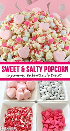 Sweet & Salty Popcorn - a yummy Valentine's treat! - Sweet & Salty Popcorn – a yummy Valentine's treat! A fun Valentines Day treat. Fun Valentines Day Ideas, Valentines Day Desserts, Valentine Treats, Fun Desserts, Kids Valentines, Perfect Popcorn, Popcorn Recipes, Flavored Popcorn, Sweet And Salty