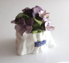 Aynsley fine bone china #figurine of flowers  from #england november #violet,  View more on the LINK: http://www.zeppy.io/product/gb/2/152157614771/