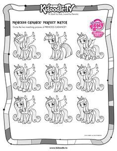 My Little Pony Matching Activity Sheet Printable   Kidoodle.TV