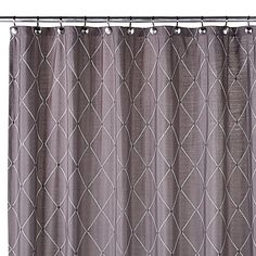 Elegant diamond embroidery adds a subtle, sophisticated touch to the Wellington Shower Curtain. Crafted in a rich grey hue, this curtain adds refreshing contemporary style to your bathroom decor.
