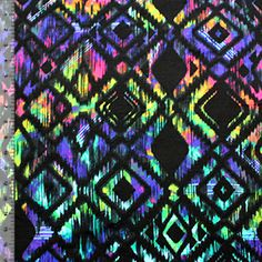 Ikat Jewel Stained Glass Cotton Spandex Knit Fabric
