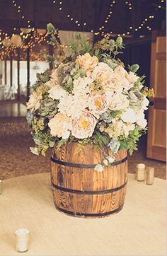 Barrel Centerpieces