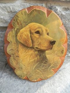 Vintage Dog Picture on wood by Pickerchicks on Etsy, $10.00
