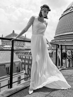 28118ee1346 Robe de mariée Laure de Sagazan