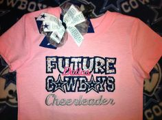 FUTURE COWBOYS Cheerleader Shirt and Hair Bow Set by christimaher, $32.00