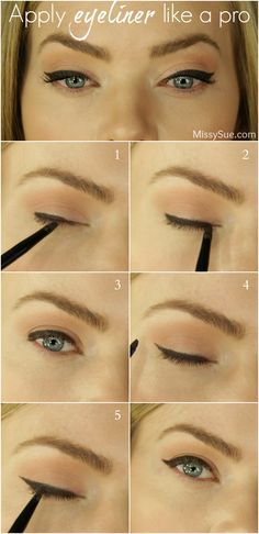Apply Eyeliner and a great Cat Eye