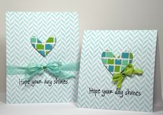 Cards created by Kellsterstamps using SSS exclusive Heart Dies.Hero Arts stamps, paper and ink. Posted on Splitcoaststampers.com