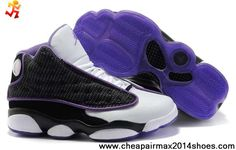 Latest Listing Discount Black White Purple Women Air Jordan 13 (XIII) Basketball Shoes Shop
