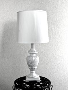 CUSTOM COLOR Table Lamp French Provincial Cottage Chic Vintage Distressed Customizable Lampshade Hand Painted Annie Sloan Chalk Paint on Etsy, $150.00