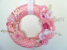 Pink Baby Wreath    Baby Announcement by PillowsEtceteraDecor, $44.00