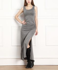 Another great find on #zulily! Gray Sleeveless Maxi Dress - Women by Miss Maxi #zulilyfinds