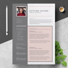 Resume Templates & Design : Resume / CV Template 3 Page - Fonts, Graphics, Photoshop, Templa. Best Resume, Resume Tips, Resume Cv, Resume Design, Cv Tips, Business Resume, Cv Design, Business Cards, Graphic Design