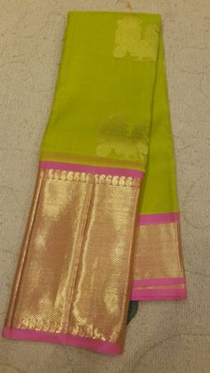 GREEN ORGANZA SILK LIGHT WEIGHT KANJIVARAM SAREE - PH12201608