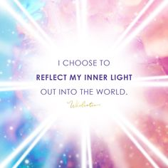 Quote / Affirmation: I choose to reflect my inner light out into the world. I Love You God, Light Quotes, Affirmation Quotes, Empowering Quotes, Spiritual Awakening, Positive Affirmations, Spirituality, Positivity, Thoughts