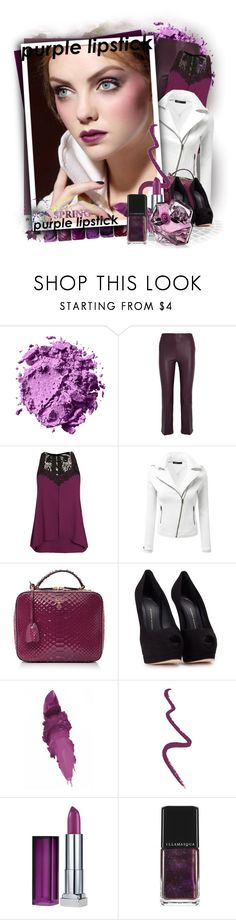 """Purple lipstick!"" by tasha1973 ❤ liked on Polyvore featuring beauty, By Malene Birger, City Chic, Doublju, Giuseppe Zanotti, Maybelline, Topshop, Illamasqua and Lancôme"