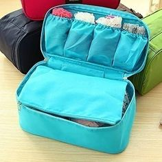 fd899fcd20 Portable Travel Organizer Cosmetic Bag Bra Underwear Pouch Luggage Storage  Case for Like the Portable Travel Organizer Cosmetic Bag Bra Underwear Pouch  ...