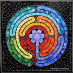 Arte de pared de mosaico de meditación #1 por Brenda Pokorny MOW1030