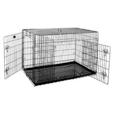 "Pet Trex Premium Quality 48"" Folding Pet Crate Kennel Wire Cage For Dogs Cats Or…"
