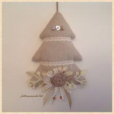 Albero decorato bianco e beige, by fattoamanodaTati, 24,00 € su misshobby.com