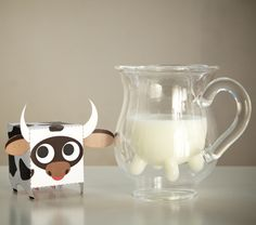 Udderly irresistible and delightful gift, both on the giving and receiving ends. Clever double walled glass design pours milk, non-dairy creamer and more as if it came straight from the cow— only, literally, much cooler.