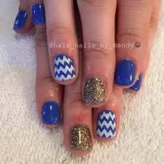 Blue and gold combination