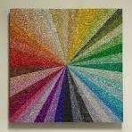 Glitter Wall Art   I love, Color wheels and Martha stewart
