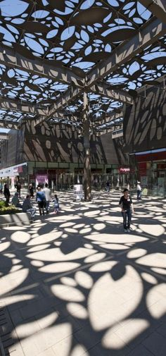 Asmacati Shopping Center | Tabanlioglu Architects I realize this isn't a diagram but I love the light patterns this canopy creates. It is amazing.