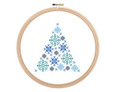 Winter Fairytale - Christmas cross stitch pattern, Christmas Pattern, Winter Cross Stitch, Christmas Needlework. Instant download.
