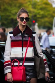 Paris Fashion Week SS 2016 Street Style: Taylor Hill