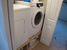DIY laundry platform - see link for more pics